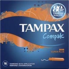 Средства личной гигиены Тампоны Tampax Compak Super Plus с аппликатором 16 шт