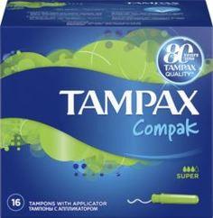 Средства личной гигиены Тампоны Tampax Compak Super с аппликатором 16 шт