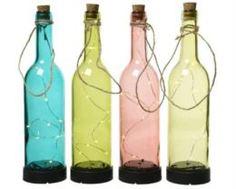 Предметы интерьера Бутылка декор с подсветкой Kaemingk garden 8х30.5см в ассортименте