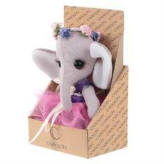 Мягкая игрушка Слоненок Carolon Тедди из вискозы, 18-25 см