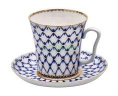 Чайные пары и сервизы Чашка с блюдцем Лфз Бокал с блленингркобальтовая сеткатн1 (8113955001)