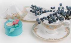 Чайные пары и сервизы Пара чайная Top art studio фонтенбло LD2219-TA