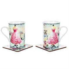 Чайные пары и сервизы Набор роз.платье 2 кружки 300мл +2 подст French garden M-1603-2