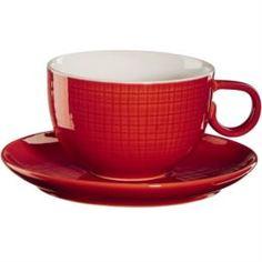 Чайные пары и сервизы Чашка с блюдцем 210мл Красный Asa selection