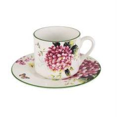 Чайные пары и сервизы Чашка с блюдцем 0.25л цветы и птицы Imari