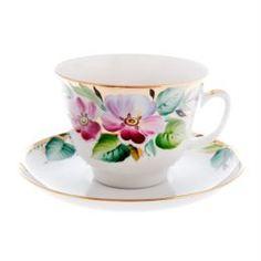 Чайные пары и сервизы Чашка с блюдцем, форма подарочная - надежда ЛФЗ