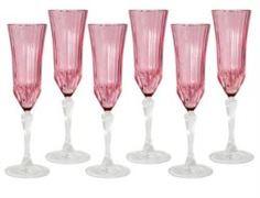 Посуда для напитков Набор бокалов для шампанского 6шт адажио розовая Same