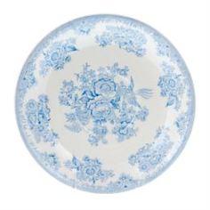 Столовая посуда Блюдце для завтрака Burleigh синие азиатские фазаны