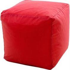 Столы, стулья и пуфики Кубик бескаркасный красный Dreambag