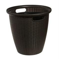 Кашпо, горшки, балконные ящики Кашпо напольное ротанг d33/30л венге Пластик центр