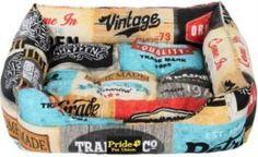 Домики, лежаки, переноски, когтеточки Лежак для собак PRIDE Винтаж Кантри 60x50x18 см