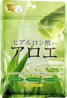Уход за кожей лица Тканевая маска Japan Gals С экстрактом алоэ 7 шт