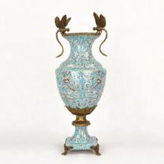 Вазы Ваза фарфоровая со стрекозами 50х27х19 см Wah luen handicraft