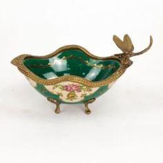Вазы Чаша фарфоровая со стрекозой 21х11х11см Wah luen handicraft