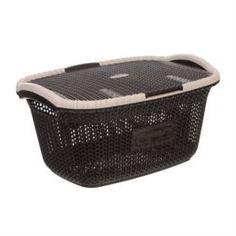 Емкости для хранения Корзина для белья с крышкой 28л Violet кофейный