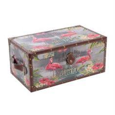 Емкости для хранения Сундук Fuzhou fashion home Фламинго 49х28х22.5 см