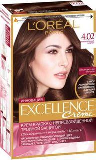 Средства по уходу за волосами Краска для волос LOreal Paris Excellence 4.02 Пленительный каштан LOreal