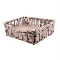 Домики, лежаки, переноски, когтеточки Лежанка для собаки Van der leeden 65х55h22см серая