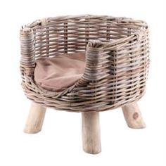 Домики, лежаки, переноски, когтеточки Лежанка для кошки Van der leeden на деревянных ножках d42h37cm