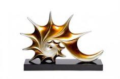 Предметы интерьера Статуэтка Гарда-декор абстракция золотая 43х6х31