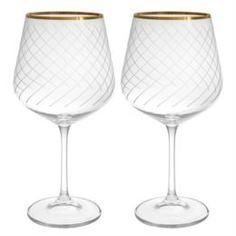 Посуда для напитков Набор фужеров для вина Crystalite bohemia дора/стрикс/600мл/2шт