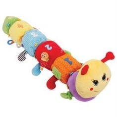 Игрушка для новорожденных Игрушка развивающая гусеница мари Happy snail 14HS09IG