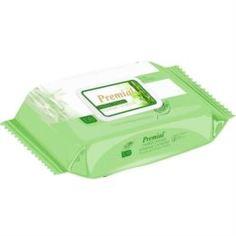 Бумажная продукция Влажные салфетки Premial Natural с экстрактом бамбука 100 шт