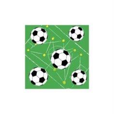 Бумажная продукция Салфетки трехслойные Duni Soccer 33х33 см 20 шт