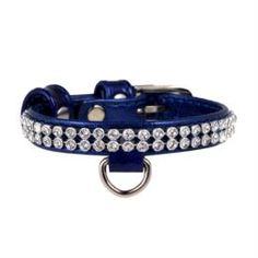 Амуниция Ошейник для собак CoLLaR Brilliance Синий со стразами 19-25 см