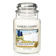 Свечи, подсвечники, аромалампы Аромасвеча в банке Чистый хлопок 1010728E Yankee Candle