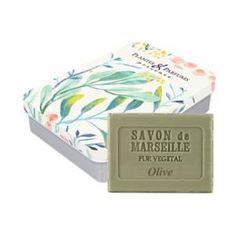 Уход за кожей лица Мыло Plantes & Parfums Олива в металлической коробочке Оливковая ветвь 100 г