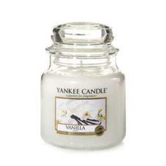 Свечи, подсвечники, аромалампы Ароматическая свеча Yankee candle средняя Ваниль 411 г
