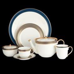 Чайные пары и сервизы Сервиз чайный Hankook/Prouna Имперор Блю 22 предмета