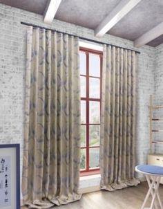"Шторы и тюль Комплект штор Sanpa Home Collection ""Селина"" на ленте 200х270 см 4 предмета голубой"
