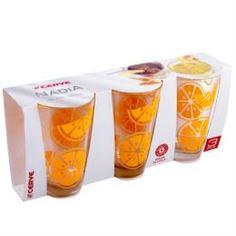 Посуда для напитков Набор высоких стаканов 3х310мл Cerve gummi orange