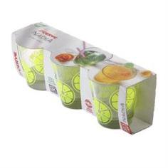 Посуда для напитков Набор стаканов низких 3х250мл Cerve gummi lemon