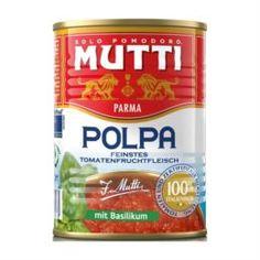Консервация Томаты Mutti резаные кубиками в томатном соке с базиликом 400 г