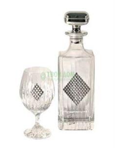 Посуда для напитков Набор бокалов для коньяка Gamma Regina rombo штоф+2 бокала (GA3047400AL) Гамма