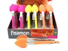 Кухонные приборы Щипцы силиконовые 23 см в форме сердца Fissman (PR-7670.TG)