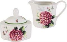 Сахарницы, молочники, блюдца Набор сахарница+молочник цветы и птицы Imari