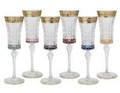 Посуда для напитков Набор бокалов для шампанского цветная флоренция Same