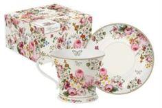 Чайные пары и сервизы Чашка 0.3л с блюдцем цветочный карнавал R2s
