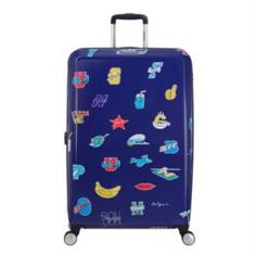 Рюкзаки и чемоданы Чемодан American Tourister CEIZER FUN синий принт L