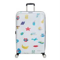 Рюкзаки и чемоданы Чемодан American Tourister CEIZER FUN белый принт L