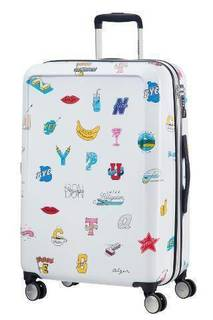 Рюкзаки и чемоданы Чемодан American Tourister CEIZER FUN белый принт M