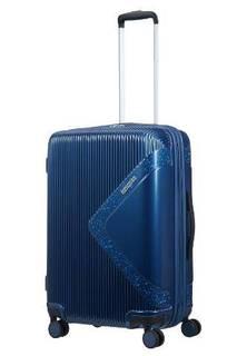 Рюкзаки и чемоданы Чемодан American Tourister Modern dream синий с блеском M