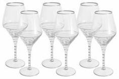 Посуда для напитков Набор бокалов для вина 0.45л Same спираль серебро