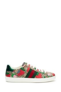 Текстильные кроссовки Ace GG Gucci Strawberry