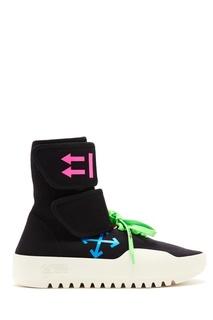 Черные кроссовки с контрастной отделкой Off White