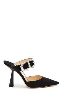 Черные туфли с глиттером и кристаллами Smokey 100 Jimmy Choo